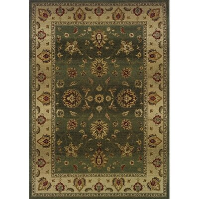 Devon Green/Beige Area Rug Rug Size: Rectangle 67 x 91