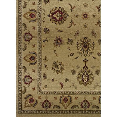 Devon Beige/Red Area Rug Rug Size: Square 8