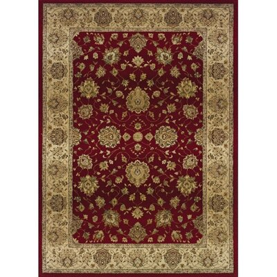 Devon Red/Beige Area Rug Rug Size: 99 x 122