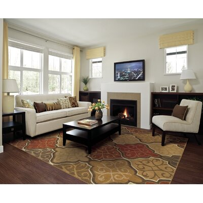 Crownfield Brown/Beige Area Rugs Rug Size: 53 x 76