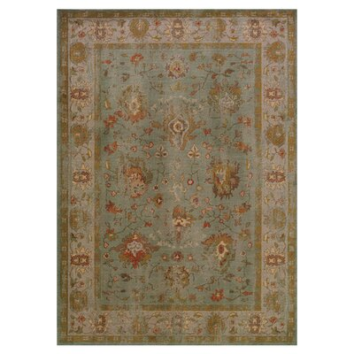 Dewolf Oriental Green Area Rug Rug Size: Rectangle 53 x 76