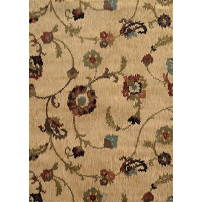 Dogwood Tan/Gray Area Rug Rug Size: Round 78