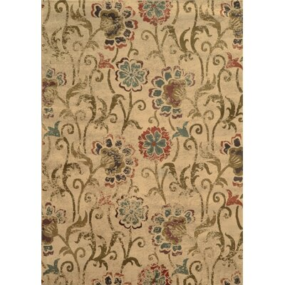 Dogwood Tan/Gray Area Rug Rug Size: 53 x 76