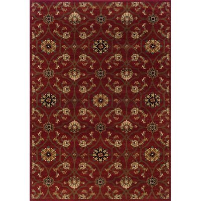 Dogwood Red/Brown Area Rug Rug Size: 53 x 76