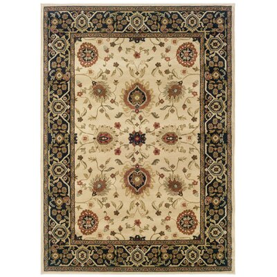 Dogwood Beige/Black Area Rug Rug Size: Rectangle 53 x 76