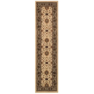 Dogwood Beige/Black Area Rug Rug Size: Runner 110 x 76