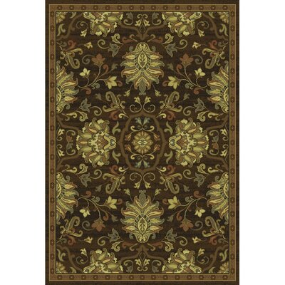 Dogwood Brown/Beige Area Rug Rug Size: 53 x 76