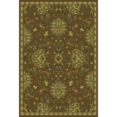 Dogwood Green/Beige Area Rug Rug Size: Rectangle 5'3