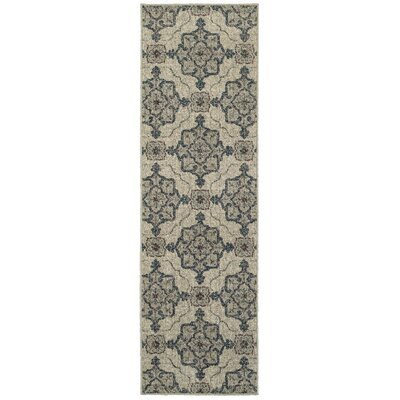 Derby Beige/Gray Area Rug Rug Size: Runner 23 x 76