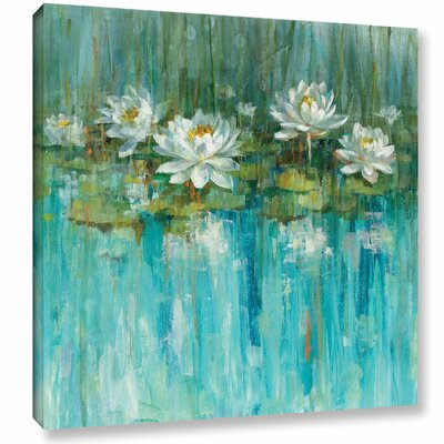 'Water Lily Pond' by Danhui Nai Painting Print on Wrapped Canvas