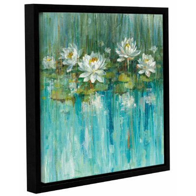 'Water Lily Pond' by Danhui Nai Framed Painting Print
