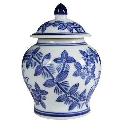 Charlton Home Lidded Ceramic Renee Decorative Jar