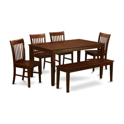Smyrna 6 Piece Dining Set Finish: Wood Seat