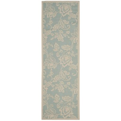 Berrima Aqua/Beige Area Rug Rug Size: Rectangle 67 x 96