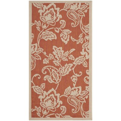 Berrima Terracotta/Beige Area Rug Rug Size: Rectangle 27 x 5
