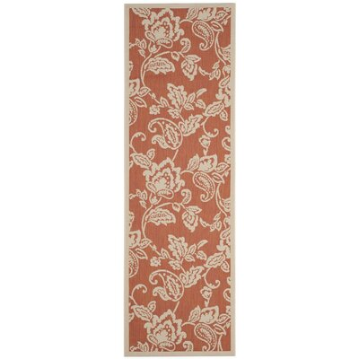 Berrima Terracotta/Beige Area Rug Rug Size: Rectangle 67 x 96