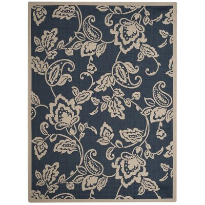 Berrima Navy/Beige Area Rug Rug Size: Rectangle 8 x 112
