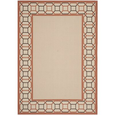 Bundara Beige/Terracotta Area Rug Rug Size: Rectangle 67 x 96