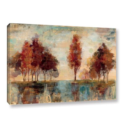 'Field and Forest' by Silvia Vassileva Painting Print on Wrapped Canvas
