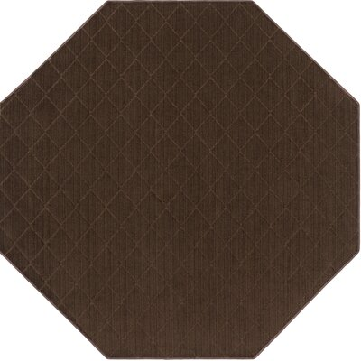 Huxley Brown Indoor/Outdoor Area Rug Rug Size: Octagon 6