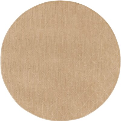 Huxley Beige Indoor/Outdoor Area Rug Rug Size: Round 6'