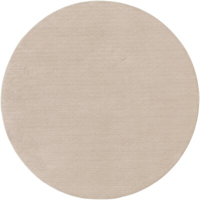 Huxley Beige Indoor/Outdoor Area Rug Rug Size: Round 4
