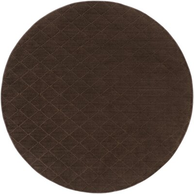 Huxley Brown Indoor/Outdoor Area Rug Rug Size: Round 6