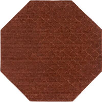 Huxley Red Indoor/Outdoor Area Rug Rug Size: Octagon 6