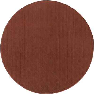 Huxley Red Indoor/Outdoor Area Rug Rug Size: Round 6