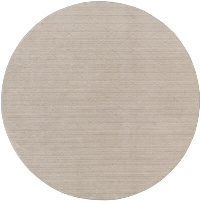 Huxley Gray Indoor/Outdoor Area Rug Rug Size: Round 6