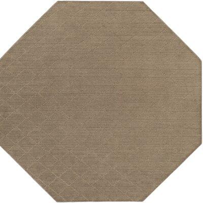 Huxley Brown Indoor/Outdoor Area Rug Rug Size: Octagon 6