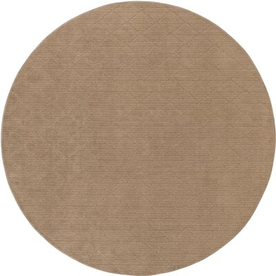 Huxley Beige Indoor/Outdoor Area Rug Rug Size: Round 6