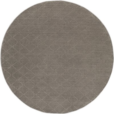 Huxley Gray Indoor/Outdoor Area Rug Rug Size: Round 4