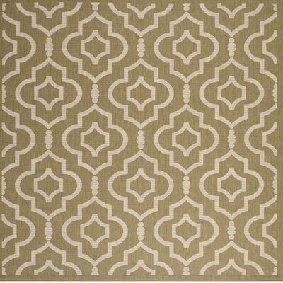 Octavius Green/Beige Indoor/Outdoor Area Rug Rug Size: Square 710