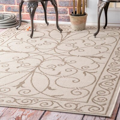 Pitman Beige Outdoor Area Rug Rug Size: Rectangle 86 x 13
