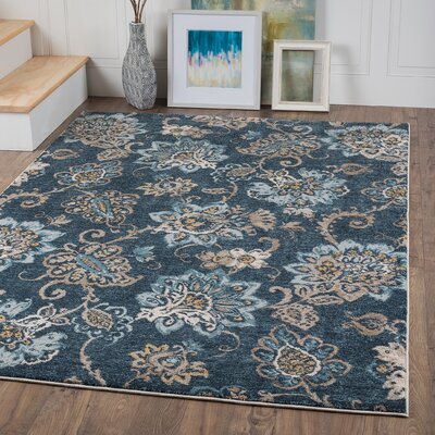 Ruby Navy Area Rug
