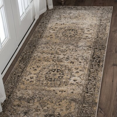 Russell Gray Area Rug Rug Size: Runner 27 x 73