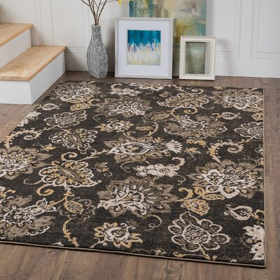 Ruby Charcoal Area Rug