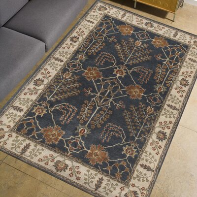 Trottier Hand-Tufted Black Area Rug Rug Size: 9 x 12