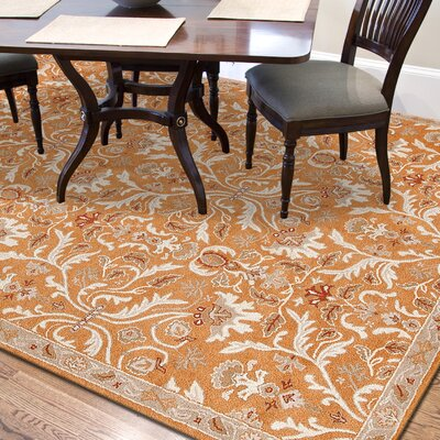Trinningham Amber Glow Area Rug Rug Size: Rectangle 36 x 56