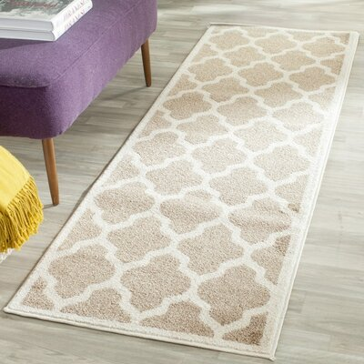 Carman Beige Indoor/Outdoor Area Rug Rug Size: 4 X 6