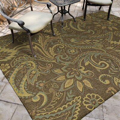 Manning Rivers End Mocha Indoor/Outdoor Area Rug Rug Size: Round 59