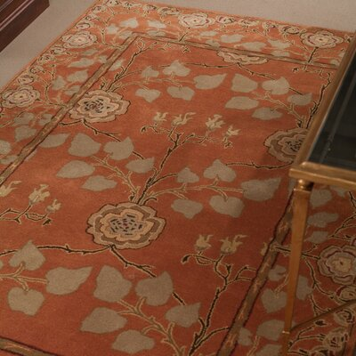 One-of-a-Kind Trinningham Hand-Tufted Wool Pumpkin Area Rug Rug Size: Runner 26 x 8