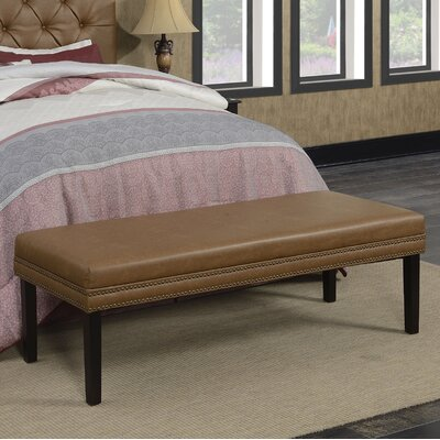 Rosanna Upholstered Leather Bedroom Bench