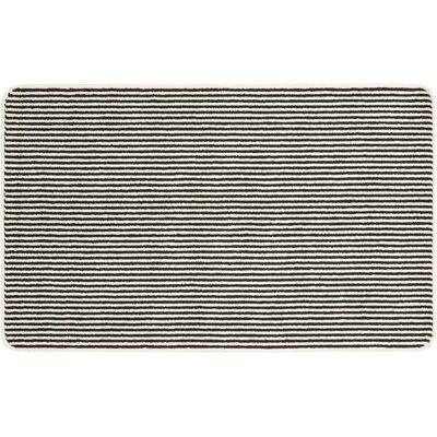 Alvares Hand-Tufted Black/White Area Rug