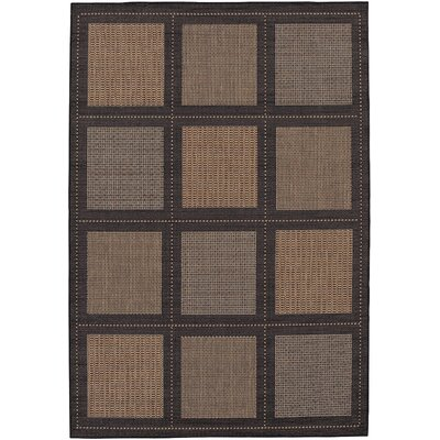 Westlund Cocoa Indoor/Outdoor Area Rug Rug Size: 53 x 76