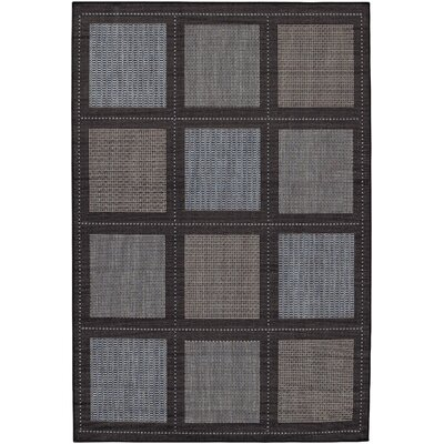 Westlund Blue/Black Area Rug Rug Size: Runner 23 x 119