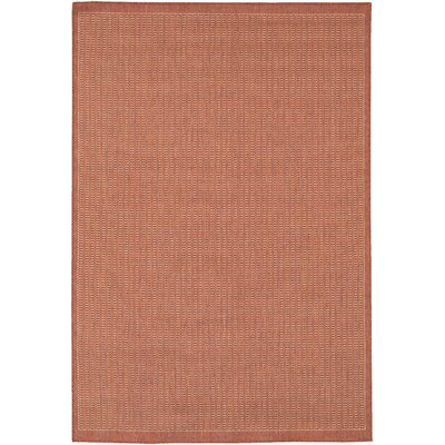 Westlund Terracotta Indoor/Outdoor Area Rug Rug Size: 39 x 55