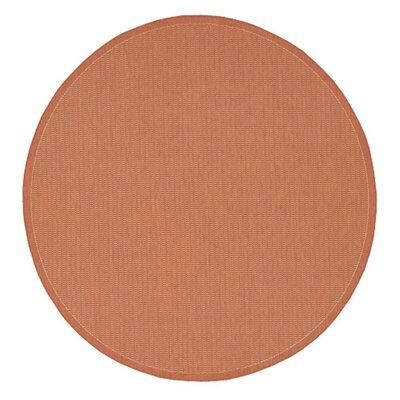 Adelmo Terracotta Indoor/Outdoor Area Rug Rug Size: Round 86