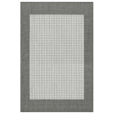 Westlund Checkered Field Beige Indoor/Outdoor Area Rug Rug Size: 39 x 55